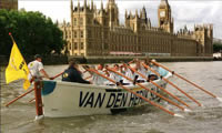 Picture one of the race at Lambeth Bridge.
