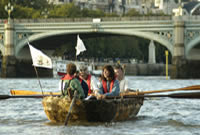 Picture two of the race at Lambeth Bridge.