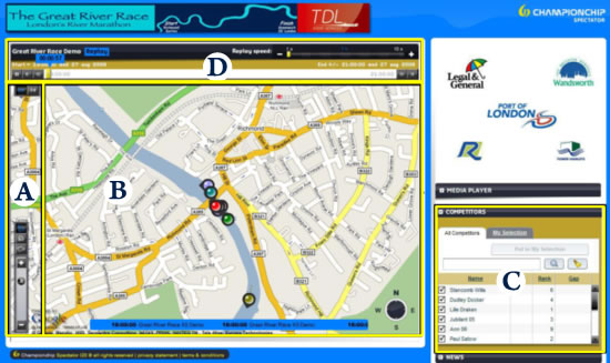 Sat Nav view of the Race.